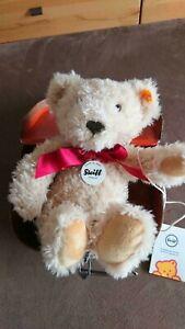 Steiff Teddy Bär im Koffer 022593 Urlaub, Einschulung, Geburtstag