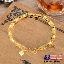 Gorgeous Jewelry Fashion Women 24K Gold Plated Butterfly Chain Bracelet Bangle