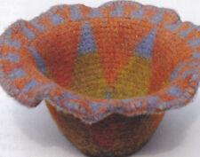 Crochet Pattern ~ FELTED TAPESTRY CROCHET BASKET ~ Instructions