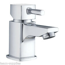 BATHROOM SQUARE SMALL MINI CLOAKROOM BASIN MONO MIXER TAP EXCLUDING WASTE ST
