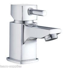 QUADRATO PICCOLO MINI Guardaroba bacino mono mixer rubinetto con Click Clack rifiuti PUSH ST