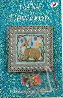 Just Nan DEWDROP Chart Instructions w/ Embellishments Easter Bunny Rabbit JN199