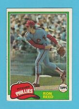 BASEBALL - TOPPS  GUM  -  RON  REED  -  PITCHER  -  PHILLIES  -  1981