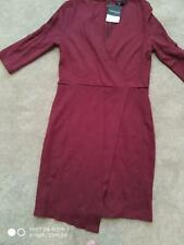 LADIES SIZE 10 HALF SLEEVE RED DRESS FROM TOPSHOP - NEW WITH TAGS