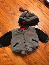 American Girl Doll Retired School Spirit Gray Varsity Jacket & Hat Outfit