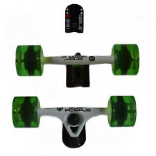 Easy People Longboards White Truck set Green wheels,Spacer,ABEC-7