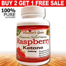 RASPBERRY KETONE 1000mg WEIGHT LOSS DETOX 100% PURE 1 BOTTLE BUY 2 GET 1 FREE