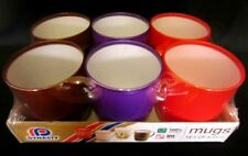 pack of 6 Dynasty Plastic Mugs 3 Asorted colours Odourless & Food grade BPA free