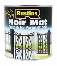 Rustins 1L Quick Dry Paint - Matt Black