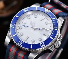 40mm Bliger Sterile White Dial Luminous Date Automatic Men's Watch Nylon Strap