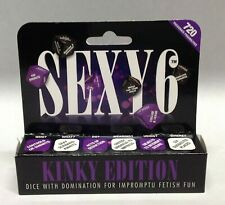 Sexy 6 Kinky Edition Dirty Dice Game Risque Romantic Naughty Adult Foreplay Gift
