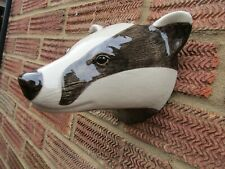 Fabulous Large Badger  Wall Vase/ Plant Pot By Quail Ceramics Boxed Ideal Gift