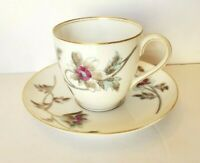 ANTIQUE LIMOGES FRANCE BAWO & DOTTER ELITE WORKS DEMITASSE CUP & SAUCER 1870