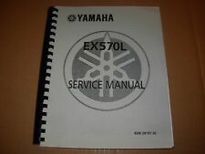 Yamaha EX570L Snowmobile Service Manual , late 1980's