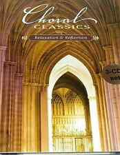 CHORAL CLASSICS relaxation & reflection BACH MOZART VIVALDI NEW 3 CD FREE S&H US