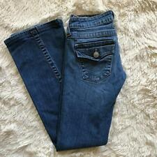 True Religion Womens Jeans Size 25 Joey Bootcut Low Rise Cotton Stretch USA
