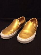 Vans Off The Wall 508182 Gold Metallic Slip-Ons Shoes Women's Size 5