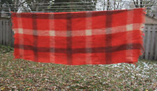 Vintage CANADA STEAMSHIP LINES Montreal Mohair Hand Loom Woven Blanket Scotland