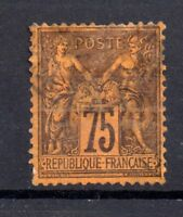 France 1877 75c Peace & Commerce fine used SG274 WS7193