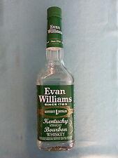 "EVAN  WILLIAMS    "" KENTUCKY  BOURBON WHISKEY""  GREEN  LABEL       EMPTY  BOTTLE"