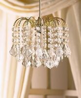 3 Tier Clear Pear Drop Ceiling Pendant Chandelier Light Shade Gold Frame #LA11M