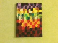 Petite toile peinture acrylique abstraite 18 x24 cm signée