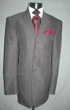 Outstanding Bespoke Charcoal Textured Men Dinner Smoking Jacket 44 XL