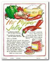 Homemade Hot Pepper Jelly Recipe Kitchen Wall Decor Art Print Poster (8x10)