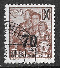 Stamp from German democratic Republic - 70 OP on 84 stamp - see scan