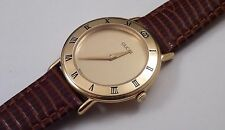 Ladies Gucci Champagne Dial Gold Bezel Lizard Strap Swiss Quartz Watch 3000.2.L