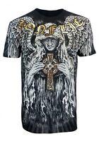 Konflic Guardian Angel Cross Men's Fighter UFC MMA Muscle T Shirt