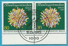 Berlin aus 1986 gestempelt MiNr.734 Zweierpaar - Bundesgartenschau!