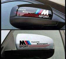 Set 2 Pegatinas sticker M powered by BMW retrovisor izquierdo y derecho 18 cm
