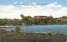 Lakeland Florida Lake Hollingsworth Southern College  antique pc Z19673