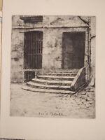 Jacques BEURDELEY (1874-1954) GRAVURE EAU FORTE SAINT JULIEN le PAUVRE PARIS