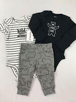 NWT Baby Boy NB Newborn 3 Pc Outfit Set Carter's Wild About Mommy Bears