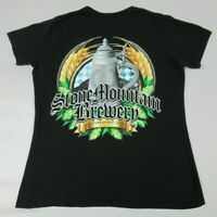 STONE MOUNTAIN BREWERY BEER STEIN WHEAT 2 SIDED BLACK LARGE WOMENS T-SHIRT A1478
