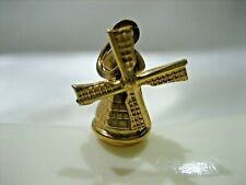 ESTATE VINTAGE 14K YELLOW GOLD MOVABLE DUTCH HOLLAND WINDMILL CHARM 2.3 GRAMS