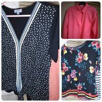Bundle Of Ladies Tops Size L 16