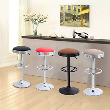 Counter Height Bar Stools Adjustable Backless Round Bar Chairs Swivel Bar Stools