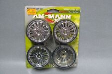 1:10 ANSMANN PNEUMATICI 211000075-CERCHI-Set LP dubstar Chrome-Wheel & Tyre