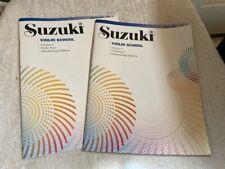 New Suzuki Music Violin School Volume 1 & 2 International Instructional Books