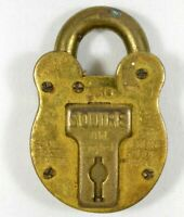 RARE SQUIRE Solid Brass Padlock #330 Made in England NO KEY