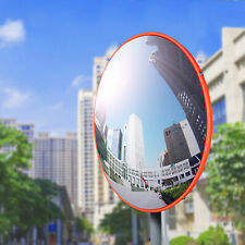 """12"""" Traffic Convex Mirror Wide Angle Safety Mirror Driveway Outdoor Security"""