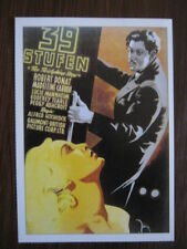 Filmplakatkarte cinema  39 Stufen   Kenneth More, Taina Elg, Brenda de Banzie