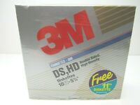 """3M IBM 5 1/4""""  DS HD Floppy Disks 11 Formatted Diskettes Write On Labels USA NEW"""