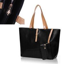 Classic Woman Lady PU leather Tote Bag Handbag Multi colour