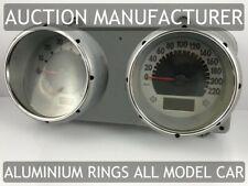 VW Lupo 1998-2005 Polished Aluminium Trim Rings Instrument Cluster x2