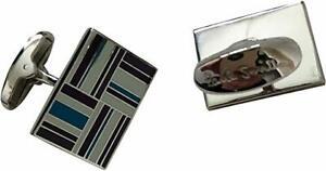 Paul Smith Verpackt Manschettenknöpfe Flagge Symbol IN Farben Blau Weiß Grau