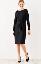 J. Jill - 4X(Plus) -  Great Black Wearever Tie-Front Dress